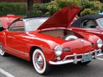 Very Sweet Vintage VW Karmann Ghia in Red With Black Top