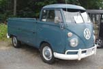 Very Straight VW Single Cab Pickup truck painted factory correct L-31 Dove Blue color