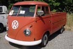 VW Single Cab Pickup Truck Painted Stock L-456 Ruby Red color