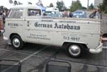 Nice Vintage Logos and Graphics Painted on a Clean Volkswagen Single Cab Pickup Truck