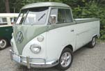 Super clean 1962 VW Single Cab Pickup with great dark green and light green 2-tone paint job