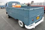 1959 VW Single Cab Pickup in Stock Dove Blue paint is a perfect 100-point restoration