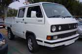 Volkswagen Vanagon original paint color sample of Alpine White #L90E, sales code P1
