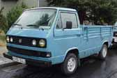 Volkswagen Vanagon original paint color sample of Dove Blue #LH5U, sales code X2