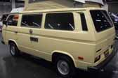 Volkswagen Vanagon original paint color sample of Ivory #L567, sales code B9
