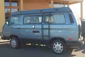 Volkswagen Vanagon original paint color sample of Monaco Blue #LA5D, sales code J3
