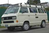 Volkswagen Vanagon original paint color sample of Pastel White #L90E, sales code P1