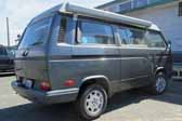 Volkswagen Vanagon original paint color sample of Wolfram Grey Metallic #LH7V, sales code X1